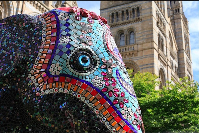 Part of the 2010 Elephant Parade, which raised money for conservation charity Elephant Family. This one is in South Kensington. Photo: artofthestate (2010)
