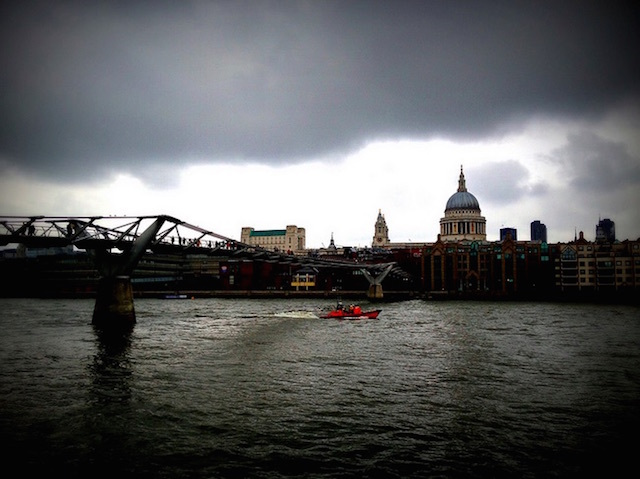 Across the Thames. Photo: Bex Walton (2013)