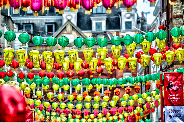 Hundreds of lanterns line the streets in Chinatown. Photo: Massimo Usai