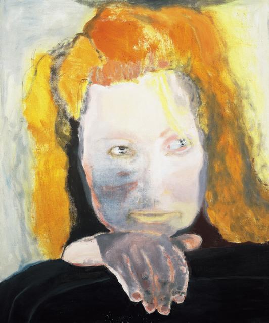 This self-portrait is entitled 'Evil is banal', based on Hannah Arendt's writings on the Nazis. © Marlene Dumas