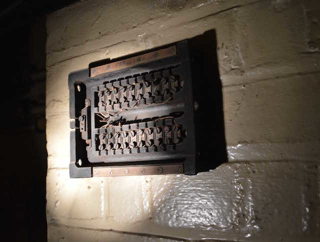 An old fuse box. Photo: Sandra Lawrence.