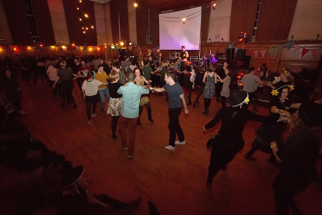 Dance to a traditional Welsh ceilidh.
