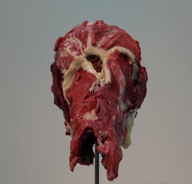 This fleshy protruding sculpture is one of the most disturbing faces. Copyright David Altmejd, photo Tabish Khan