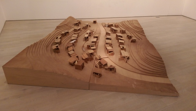 This is one of several architectural maquettes in the exhibition. Photo Tabish Khan