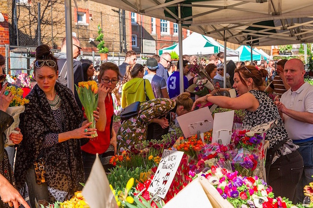 Columbia Road Flower Market in 2014. Photo: Joe Navin