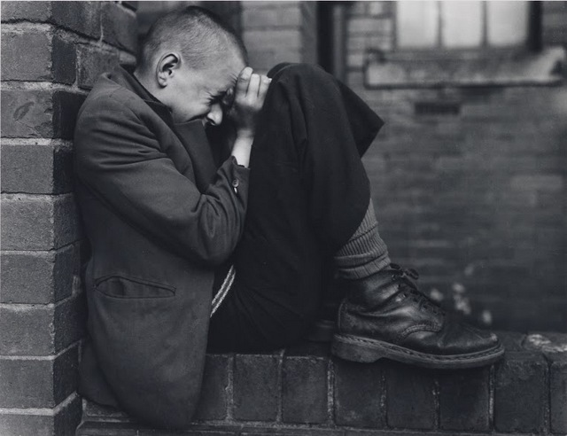 Chris Killip's harrowing images of homelessness are among the starkest images in the show. Copyright Chris Killip.