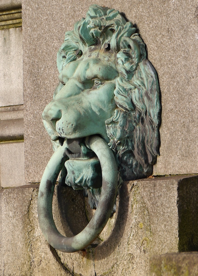 "On both sides of the Embankment you'll see these Victorian lions holding mooring rings in their mouths.  An unknown Londoner, concerned about the risk of flooding in the capital wrote this supposedly prophetic ditty: ""When the Lions drink, London will sink""."