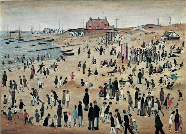 There are also older works such as this Lowry and two superb Paul Nash paintings. Copyright the estate of LS Lowry.