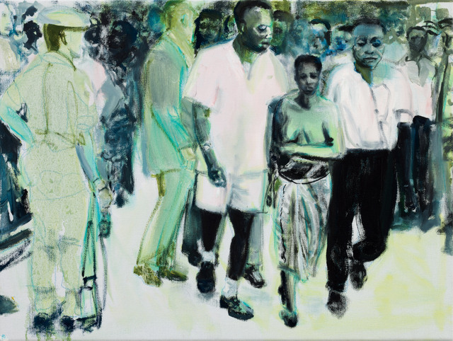 Pauline Lumumba walked bare breasted through the streets of Kinshasa to mourn her husband Patrice who had been assassinated. © Marlene Dumas