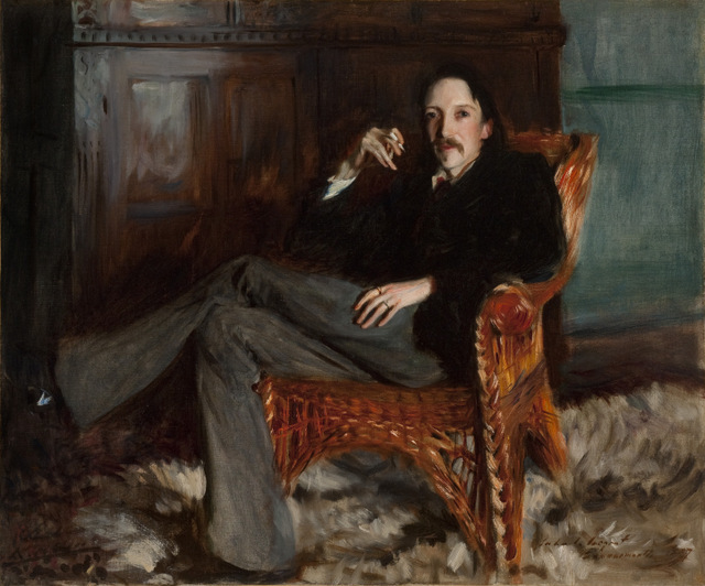 The author Robert Louis Stevenson is one of many famous subjects in this exhibition. Courtesy of the Taft Museum of Art, Cincinnati, Ohio