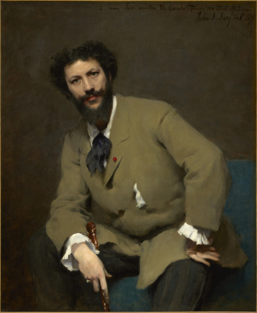 Fellow painters are represented like Carolus-Duran here. Sargent was also close friends with Monet. Copyright: Sterling and Francine Clark Art Institute, Williamstown, Massachusetts