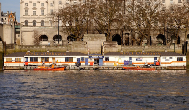 This RNLI Lifeboat Station, close to Somerset House, is Britain's busiest and the first Station built to exclusively serve a river. It is crewed by 45 volunteers and 11 permanent staff.