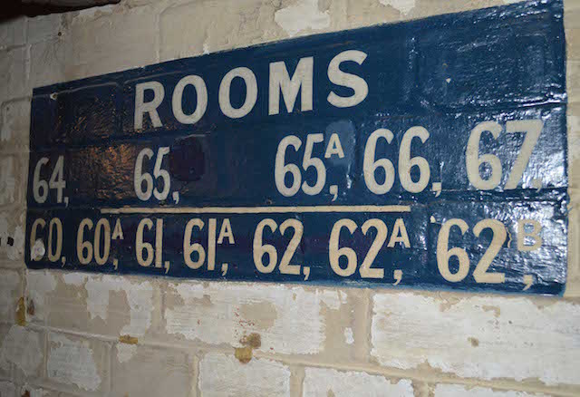 Room numbers referred to the rooms above. Photo: Sandra Lawrence.