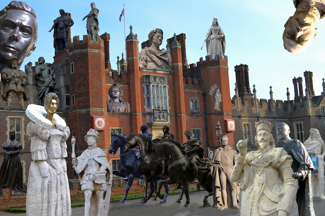 A Game Of Thrones With London's Royal Statues