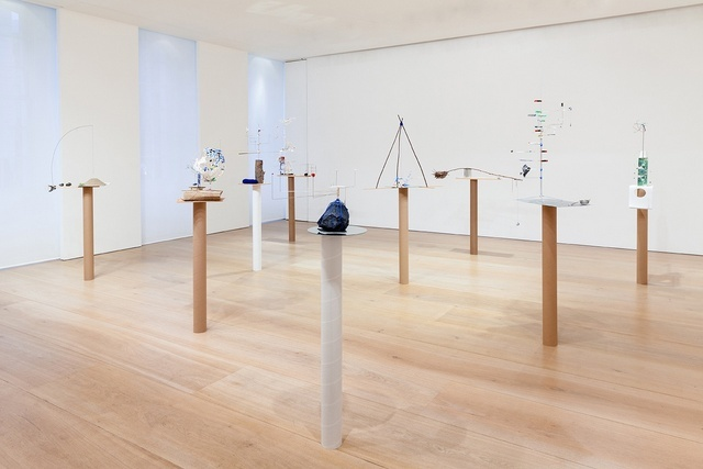 The full array of delicate sculptures in the Mayfair gallery. Image copyright Sarah Sze & Victoria Miro