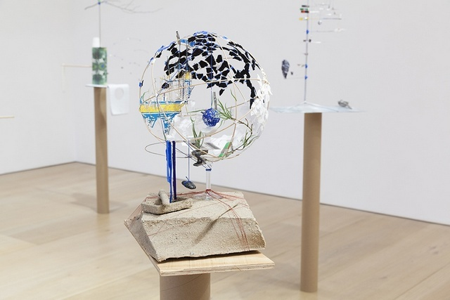 A close up of one the sculptures in the Mayfair gallery.Image copyright Sarah Sze & Victoria Miro