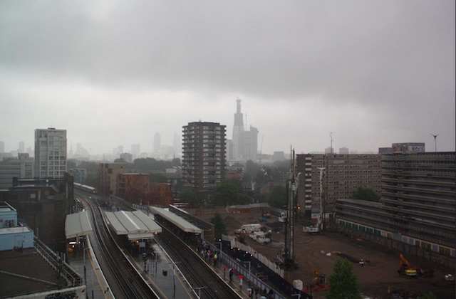 Elephant and Castle. Note the half-built Shard in the background. Photo: Zefrog (2011)