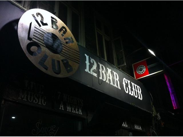 the 12 bar club sign