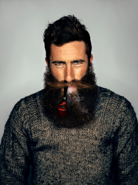 Jimmy Niggles's beard was grown to draw attention to the risks of skin cancer, and started off Mr Elbank's journey of photographing beards.  © Mr Elbank