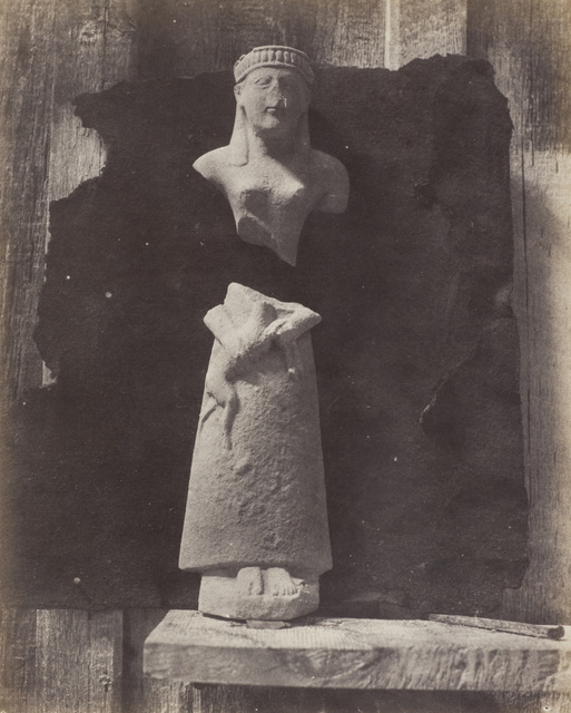 Auguste Salzmann, A Cypriot statue. 1858-1865. © Wilson Centre for Photography