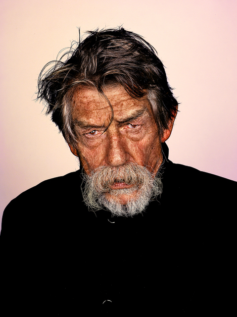 John Hurt is one of the recognisable faces on display. Other known figures include Everton goalkeeper Tim Howard and artist Gavin Turk © Mr Elbank