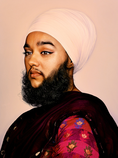Harnaam Kaur has being growing a beard since she was 16 and was diagnosed with polycystic ovary syndrome.  © Mr Elbank