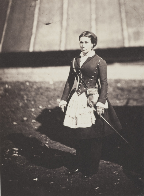 Roger Fenton, Cantiniére (a woman who carries canteens for a soldier), 1855.  © Wilson Centre for Photography