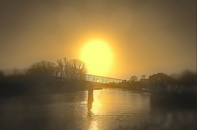 The sun in Twickenham. Photo: Andy Blackwell (2013)