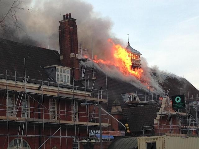 Fire Damages Battersea Arts Centre