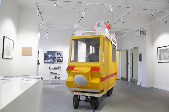 There's a gallery of contemporary art works on the ground floor. Photo: Beth Elliott.