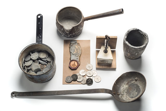 Counterfeiting and Forgery: Implements used for counterfeiting seized by Metropolitan Police