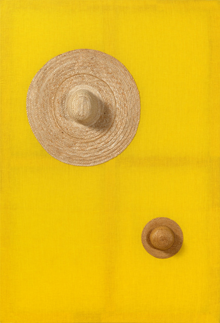 These three dimensional paintings attempt to co-opt hats into creating a nude. Copyright Alexandre da Cunha.