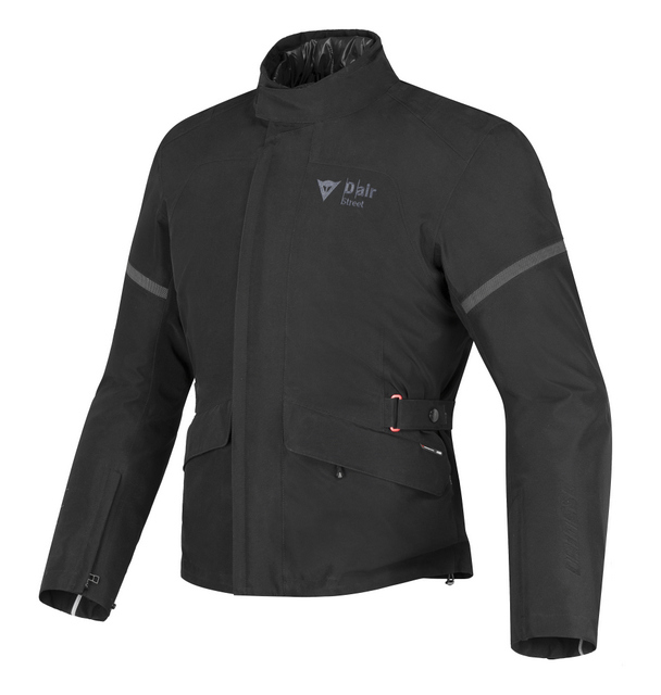 A true lifesaver with airbags built into a motorcycling jacket. By Dainese