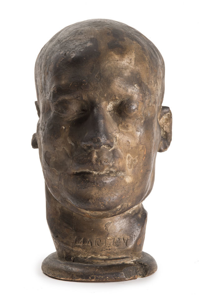 Death mask of Robert Marley, 1856