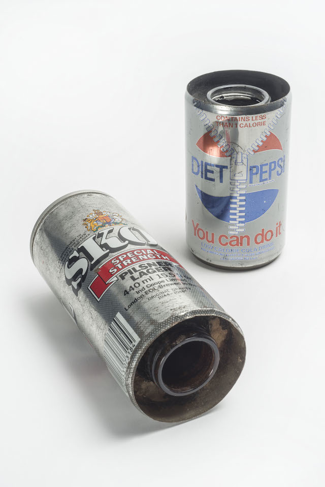 Drinks cans used in drug smuggling, seized by Metropolitan Police