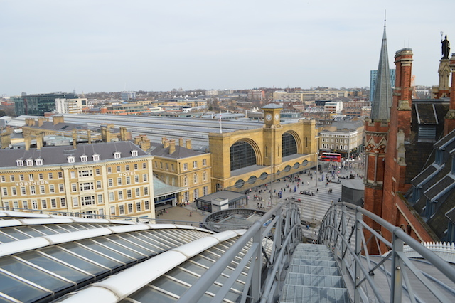 Looking down towards King's Cross station.