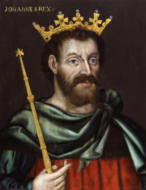 This is the first known portrait of King John, but the artist remains unknown. Copyright National Portrait Gallery.