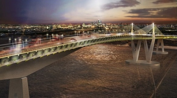 Image of proposed Gallions Reach bridge released by Chamber of Commerce last year