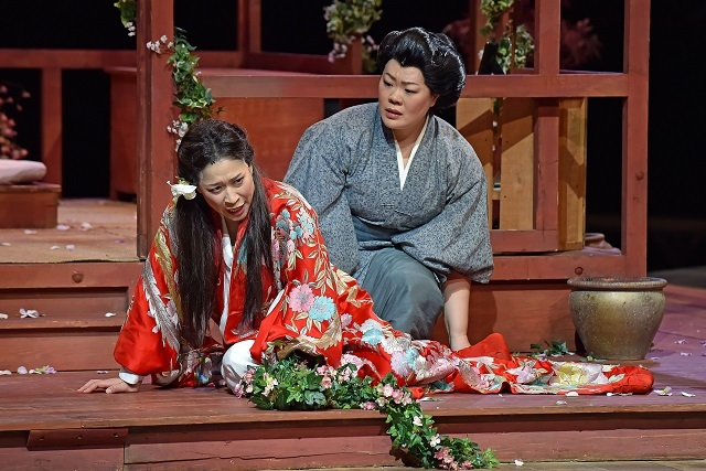 Hyesoung Kwon and Sabina Kim in Madam Butterfly. Picture by Paul Sanders.