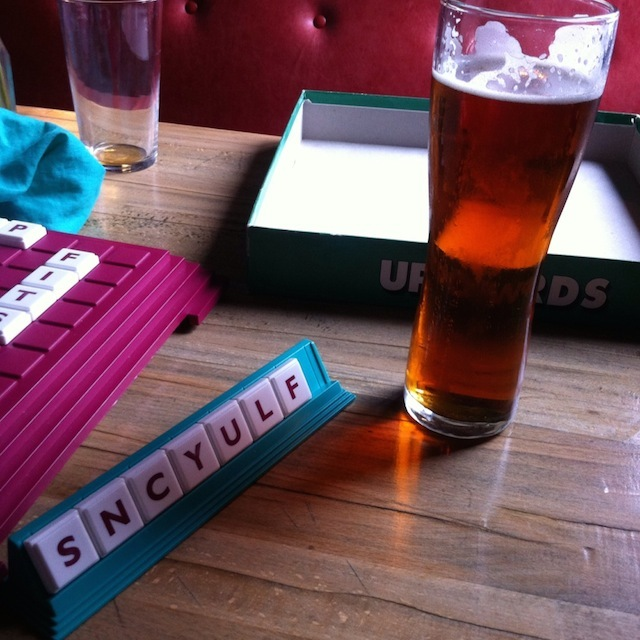 Upwords... the superior cousin of Scrabble.