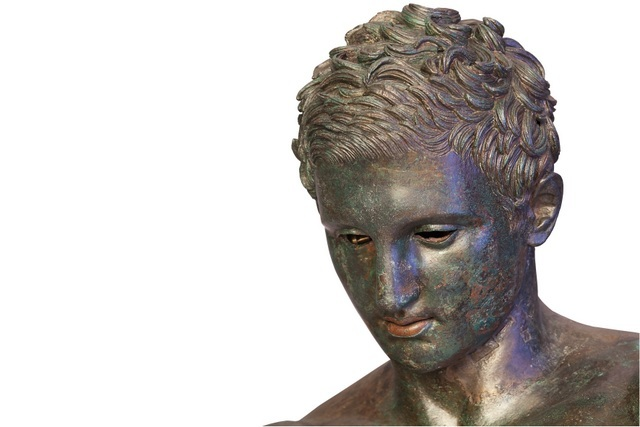 Up close the detail on this bronze head is evident.  © Tourism Board of Mali Losinj