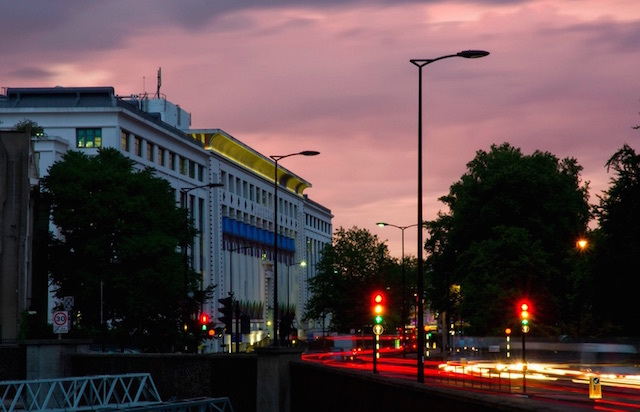 Summer sunset near Mornington Crescent. Photo: James Hogg (2010)
