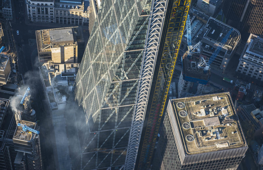 The Leadenhall Building looks like it's about to blast off in this shot.