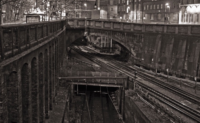 Three bridges at Farringdon. Photo: Jon Morris-Smith (2008)