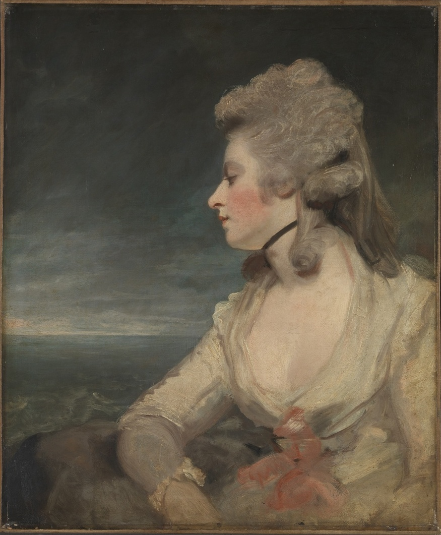 Mary Robinson is the sister of the pensive Countess and her hair has been painted in the fashion of the time. © The Wallace Collection.