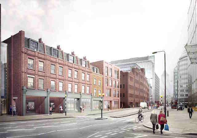 An artist's impression of how part of the Norton Folgate redevelopment would look.