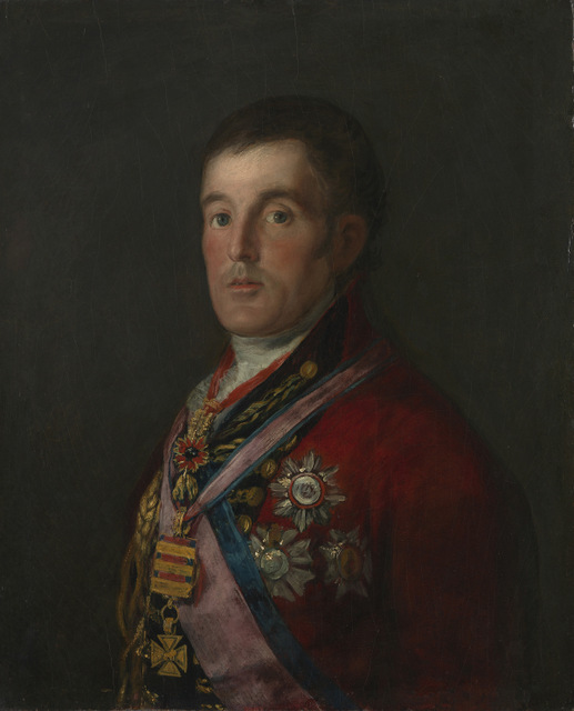 This portrait of the Duke by Goya is dissimilar to others in the show, in that it shows him looking uncertain. Copyright: The National Gallery, London