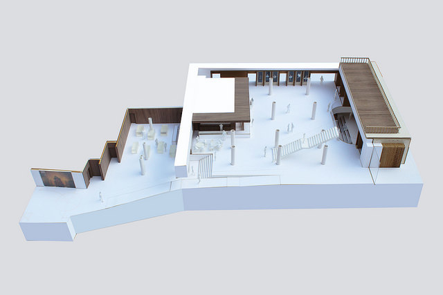 Model of the ground floor foyer © Stanton Williams 2014