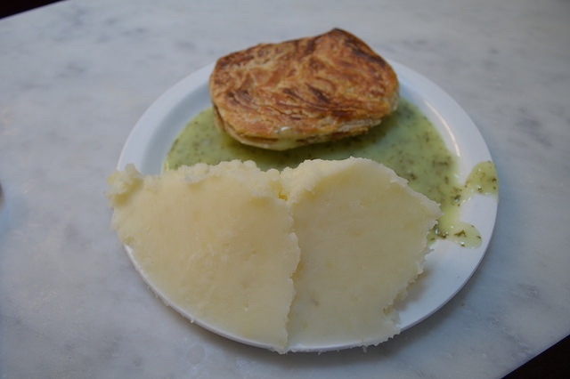 Pie, mash and liquor at M. Manze on Tower Bridge Road | Photo by Matt From London from the Londonist Flickr pool