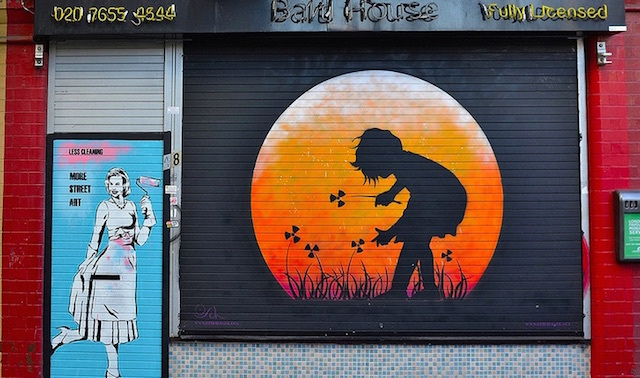 Street art just off Brick Lane. Photo: psyxjaw (2013)
